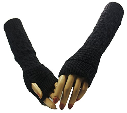 Fashion Dimensions Grey Winter Rave Arm Warmer Gloves