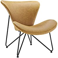 Modway Glide Lounge Chair in Tan