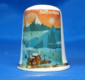 Birchcroft Porzellan-Fingerhut zum Sammeln Reiseposter Quebec inklusive Box
