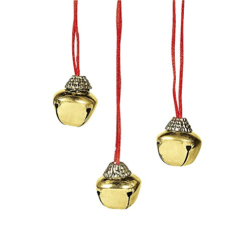Fun Express Jingle Bell Necklaces (1 - Party Favors Christmas