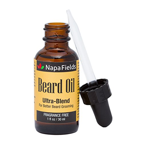 Field Blend - Napa Fields Ultra Blend Beard Oil Unscented Organic and Natural - Daily Leave-In Conditioner Treatment for Long or Short Beards and Mustache- with Vitamin E Jojoba & Coconut Oils