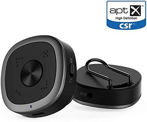 GFFG Receptor Receptor transmisor Bluetooth 5.0 Original aptx HD Adaptador Bluetooth 5.0 CSR8675 APTX Baja Latencia para Smart TV,Negro,Bluetoothv5.0: Amazon.es: Hogar