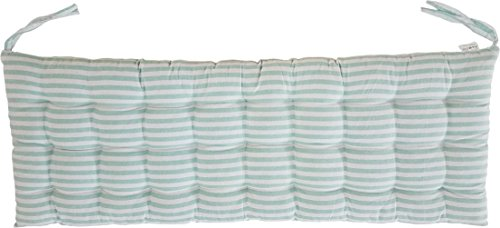 Melange 100% Cotton 44'' x 17'' Bench Cushion, Green Stripes by Melange