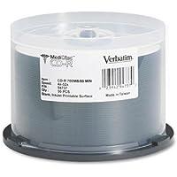 VERBATIM 94737 Medical Grade CD-R Discs, 700MB/80min, 52x, Spindle, White, 50/Pack
