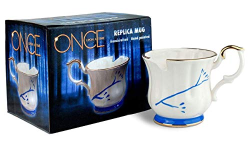 Once Upon A Time Belle Costume (Once Upon A Time Collectibles | White Chipped Ceramic Molded Mug | 12 Ounces | Toynk)