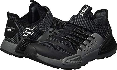 Skechers Kids Boys' Kinectors-Thermovolt Sneaker,Black/Charcoal,4.5 Medium US Big ()