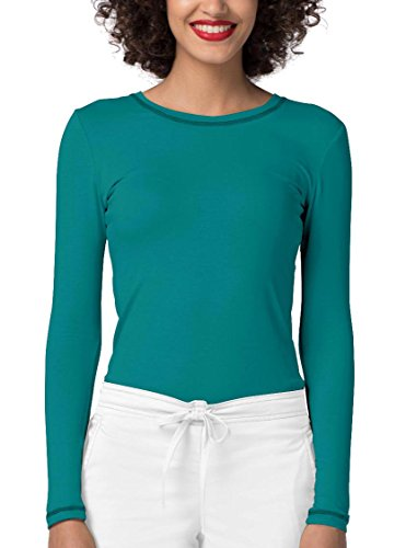 Long Sleeve Fitted T-Shirt Underscrub Tee- 3400 - Teal Blue - M ()