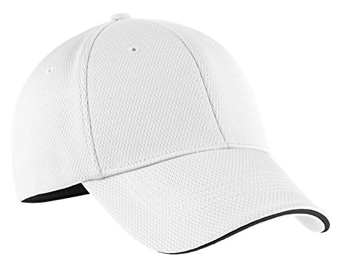 (Nike Golf 333115 Adult's Dri-FIT Swoosh Flex Sandwich Cap White Large/X-Large)