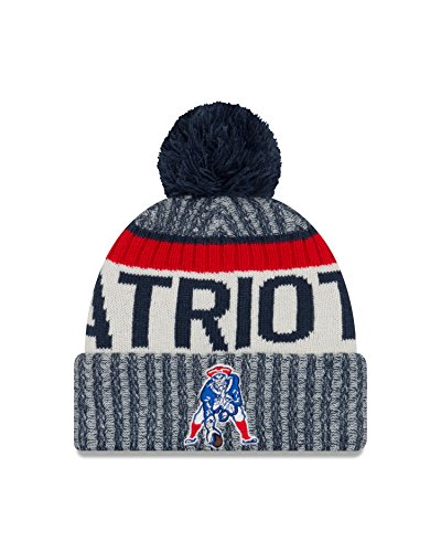 New England Patriots New Era 2017 Historic Throwback On-Field Sport Knit Beanie Hat / Cap