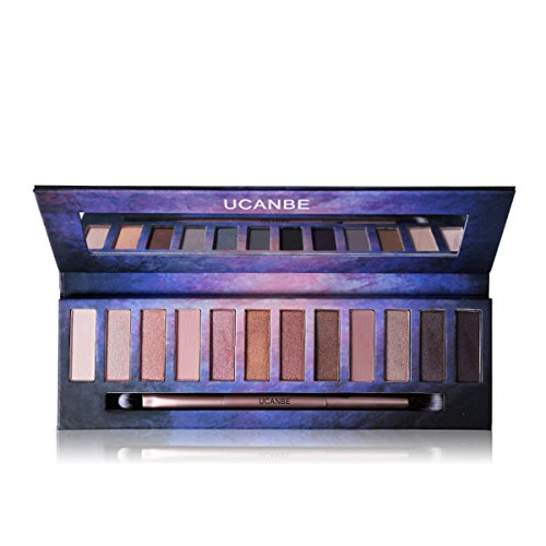 Professional Matte Shimmer Eye Shadow Palette – 12 Highly Pigmented Neutral Nude Shades with EyeShadow Blending Applicator Ucanbe (edition 3)