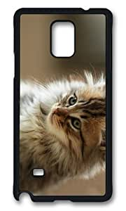 Adorable cute fluffy cat Hard Case Protective Shell Cell Phone Samsung Galaxy Note4