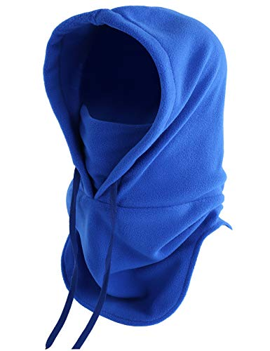 ChinFun Balaclava Windproof Ski Mask Motorcycle Face Mask Adjustable Winter Hats Cold Weather Heavyweight Fleece Hood Ultimate Thermal Retention Moisture Wicking Snowboard Gear Royal Blue