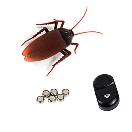 Fake Cockroach Bugs Gag Toys Practical Jokes Mock Props Toys Infrared Remote Control for Kindergarten children