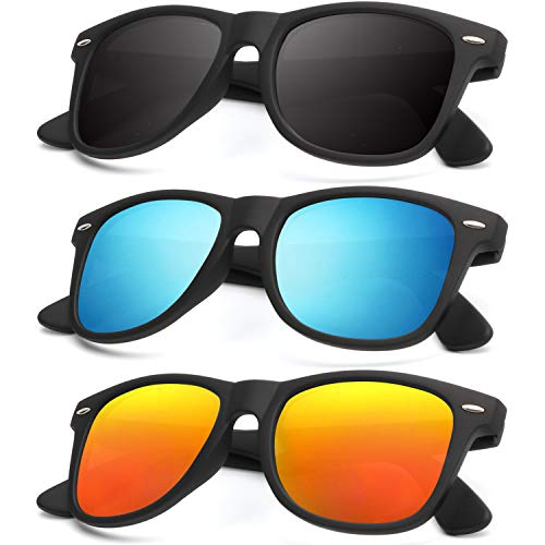 Unisex Polarized Sunglasses Stylish Sun Glasses for Men and Women Color Mirror Lens Multi Pack Options