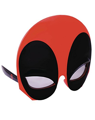 Costume Sunglasses Marvel Large Soft Touch Deadpool Sun-Staches Party Favors UV400 -