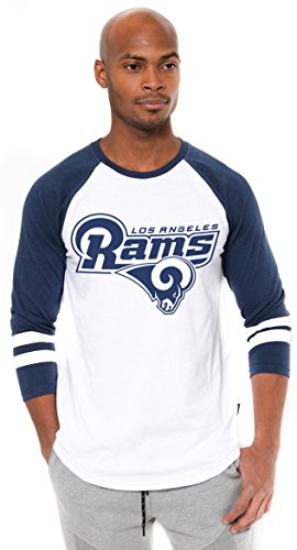 NFL Men's T-Shirt Raglan Baseball 3/4 Long Sleeve Tee Shirt, Team Logo Color – DiZiSports Store