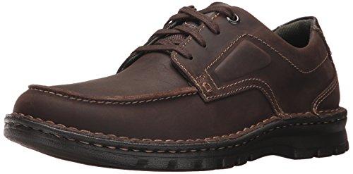 CLARKS Men's Vanek Apron Oxford, Dark Brown Leather, 9.5 M US