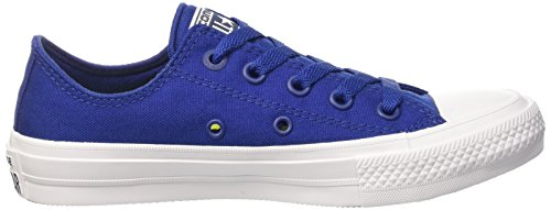Converse Mens Chuck Taylor All Star Low Ii Sneaker Sodalite Blu / Bianco