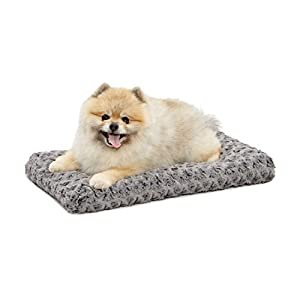 "MidWest Quiet Time Pet Bed Deluxe Gray Ombre Swirl 21"" x 12"""