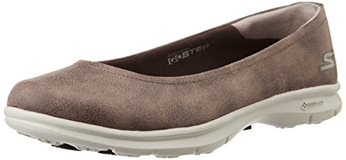Skechers Performance Women's Go Step - Distinguished Walking Shoe, Brown Suede, 8 M US (Walking Shoes Womens Leather)