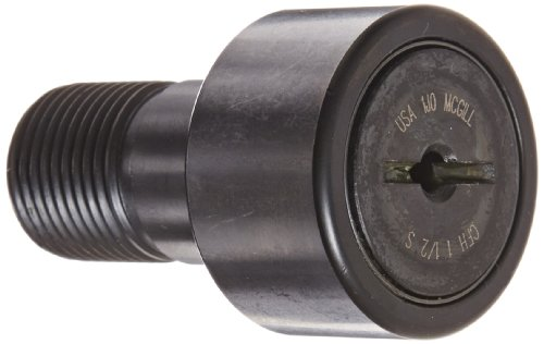McGill CFH1 1/2S Cam Follower, Heavy Stud, Sealed/Slotted, Inch, Steel, 1-1/2