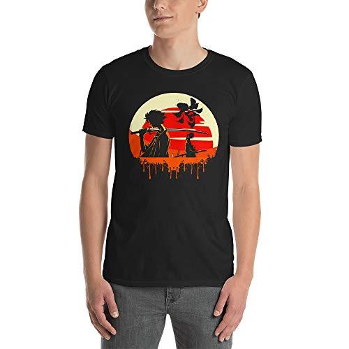 (Mugen Samurai Champloo Anime Samurai Blood Splatter Sunset Men/Women Unisex T-Shirt)