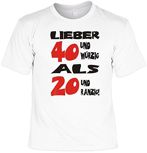 Modisches Herren Fun-T-Shirt als ideale Geschenkeidee im Set zum 40. Geburtstag + Mini Tshirt Baujahr 1977 Farbe: weiss