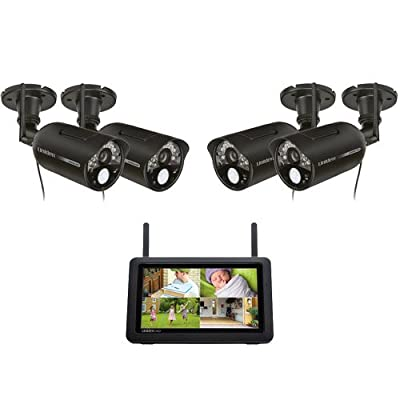 Uniden Guardian UDR777HD + (2) UDRC57HD Cameras Indoor/Outdoor Wireless Security Camera System - 40' with Night Vision - 4 Camera System by Uniden