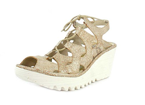 Fly Wedge Sandal Leather London Pearl Pearl Women's Lea London Yexa Yexa Cool Cool Fly FrxpZFq