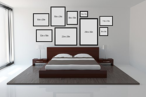 amazoncom 16x20 picture frame designed to display vertically or horizontally on a wall 1 width molding