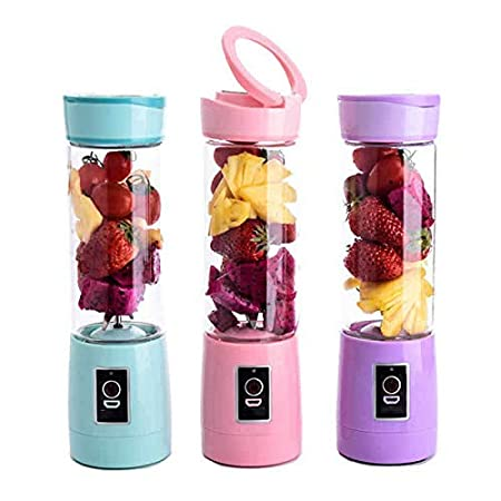 SZJJI Licuadora portátil Mini Travel Fruit USB Juicer Cup Smoothie ...