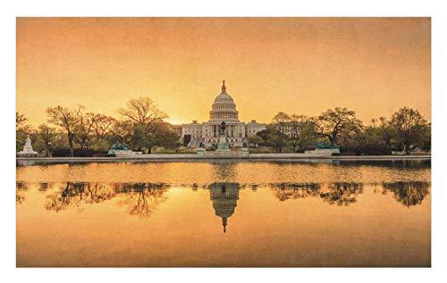 Ambesonne United States Doormat, Washington DC American Capital