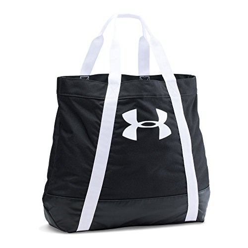 Under Armour Women's Favorite Logo Tote, Black (001)/White, One Size
