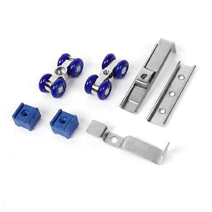 2 piezas de plástico 0,73 Dia 4 diapositivas rodillo azul de la rueda de