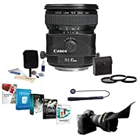 Canon TS-E 45mm f/2.8 Tilt and Shift Manual Focus Lens - USA - Bundle with 72mm Filter Kit, Shade, Lens Cap Leash, Pro Lens Cleaning Kit, and Professional Software Package