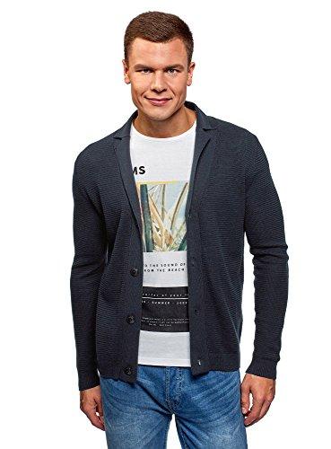 [해외]oodji 울트라 맨 즈 버튼 업 니트가 디 건 / oodji Ultra Men`s Button-Up Knit Cardigan