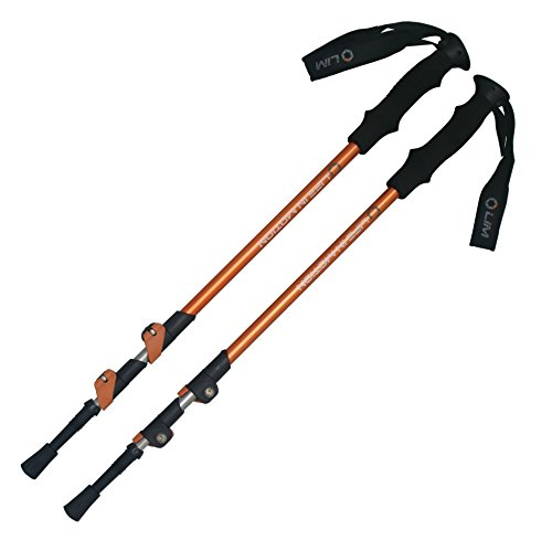 Pair of Life In Motion Trekking Hiking Walking Poles Sticks , Durable, Lightweight, Collapsible telescoping.