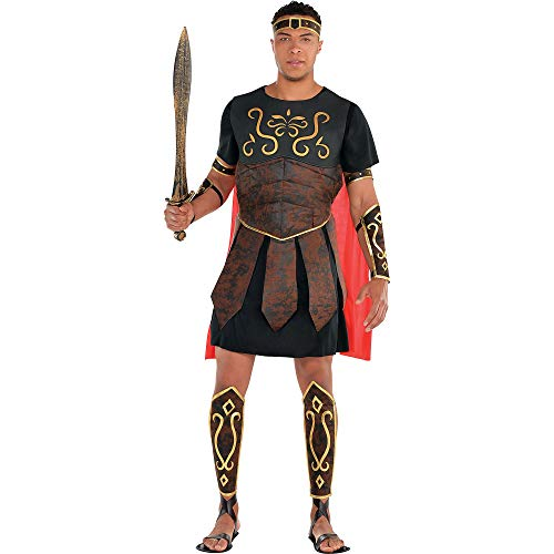 Amscan Standard Adult Roman Centurion Costume, Large, Black
