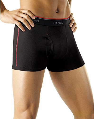 Hanes Men's Cool DRI Short Leg Boxer Briefs Comfort Waistband 5-Pack_Assorted_S