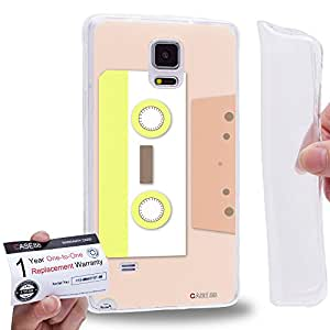Case88 [Samsung Galaxy Note 4] Gel TPU Carcasa/Funda & Tarjeta de garantía - Art Fashion Compact Cassette Compact Cassette Art2618