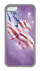 TYH - iPhone 5C Case, iPhone 5C Cases -Patriotic Dolphins Custom TPU Soft Case Cover Protector for iPhone 5C Transparent ending phone case