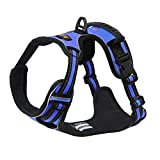 Acare Dog Harness Vest With Handle, Adjustable Dog Vest Harness Medium For Dogs in Training Walking - No More Pulling, Tugging or Choking - Blue