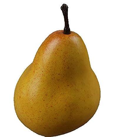 FidgetKute Artificial Fake Fruit Lifelike Banana Apple Orange Peach Home DIY Decoration Banana One Size