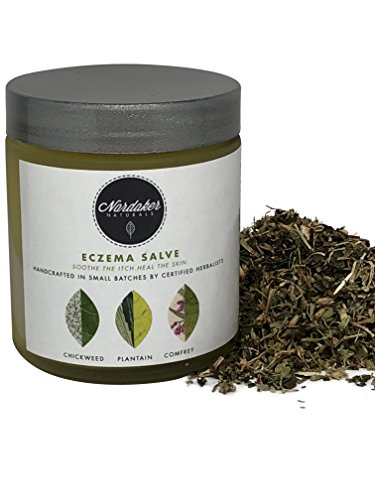 ganic Eczema Salve Cream, 4oz (Small Batch by Certified Herbalists) treats Dermatitis, Rashes. Made with Wholesome Herbs Handcrafted Natural Formula Soothes Itch and Heals Skin ()
