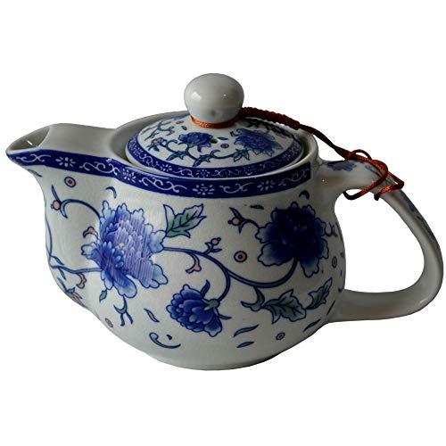 Teapot 500ml Blue White Flower Porcelain Stainless Infuser