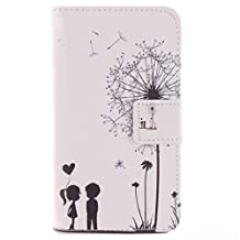630 635 Case, Lumia 630 635 Case, SATURCASE PU Leather Flip Wallet Stand Card Slots Case Cover for Nokia Lumia 630 635 Little Lovers