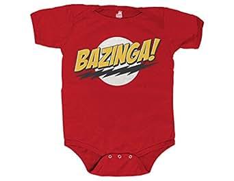Ripple Junction Big Bang Theory Bazinga No Face Infant Creeper Newborn Red