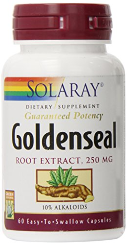 Solaray Goldenseal Root Extract, 250 mg, 60 Count