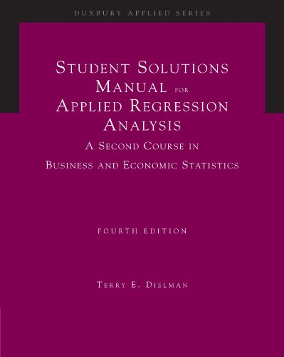 applied regression analysis 4th edition pdf