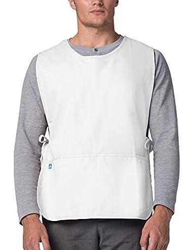Adar Uniforms delantal Laboral Unisex Con Bolsillos, Para Trabajos de Belleza y Médicos - 702 Color WHT | Talla: Regular: Amazon.es: Ropa y accesorios